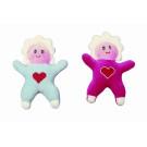 Noe Plyšová dojčenská hračka s hrkálkou bábika ružová