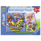 Ravensburger Puzzle Nickelodeon Labková Patrola Mighty Pups 3x49
