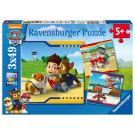Ravensburger Puzzle Nickelodeon Labková Patrola 3x49