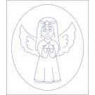 Beruška Detské vyšívanie Predtlač 20x15 Anjel