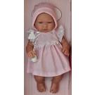 Asivil Realistické bábätko dievčatko María, 43cm bodkované šatočky