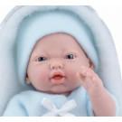 Marina & Pau Realistické bábätko chlapček, 21cm v spacom vaku