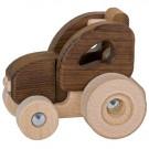 Goki Drevený traktor prírodný