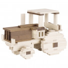 Goki Drevené stavebné kocky prírodné dvojfarebné, 200ks