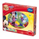 Dino Drevené obrázkové kocky Mickey Mouse, 12 kociek