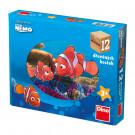 Dino Drevené obrázkové kocky Disney Nemo, 12 kociek