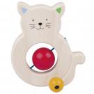 Heimess Drevená hračka Mačička s červeným bruškom