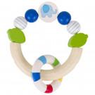 Heimess Drevená elastická hračka do ruky polkruh Sloník modrý