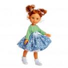 Berjuan Eva bábika, 35cm v zelenom