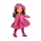 Berjuan Fashion Girls Bábika bruneta v ružovom v papučkách, 35cm