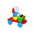 MIVA Vacov Drevená ťahacia hračka so xylofónom psík farebný