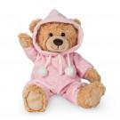 Teddy Hermann Plyšový medveď v pyžamku, 30cm v ružovom