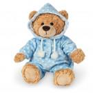 Teddy Hermann Plyšový medveď v pyžamku, 30cm v modrom