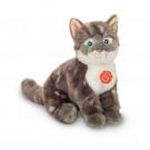 Teddy Hermann Plyšová mačka sivá pruhovaná, 24cm