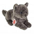 Teddy Hermann Plyšová mačka kartúzka Chartreux ležiaca, 20cm