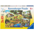 Ravensburger Puzzle Zvieratá Farma Zoo Les, 3x49ks