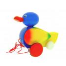 MIVA Vacov Drevená ťahacia hračka káčer modrý