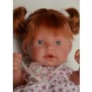 Antonio Juan Realistická bábika Tita Coletas, 26cm ryšavé vlasy kvietky