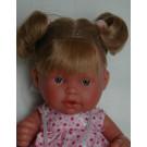 Antonio Juan Realistická bábika Tita Coletas, 26cm blond bodkované šatočky