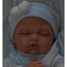 Antonio Juan Zvukové bábätko Luni Cojin, 29cm na vankúši v modrom