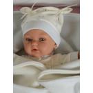 Antonio Juan Zvukové bábätko Peke, 29cm v čiapočke modré