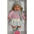 Antonio Juan Zvuková bábika Any Bufanda Gris, 37cm šedý šál