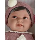 Antonio Juan Látková bábika bábätko Pipa, 40cm v tmavoružovom