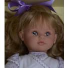 Asivil Látková bábika Pepa, 57cm fialová mašľa