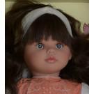 Asivil Látková bábika Pepa, 57cm oranžová čipka