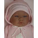 Asivil Realistické bábätko dievčatko María, 43cm ružová kapucka