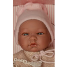 Asivil Realistické bábätko dievčatko María, 43cm obojstranná bunda