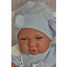 Antonio Juan Realistické bábätko chlapček, 42cm na deke