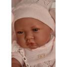 Antonio Juan Realistické bábätko dievčatko, 42cm na deke