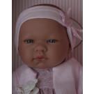 Asivil Realistické bábätko dievčatko María, 43cm čelenka