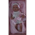 Asivil Realistické bábätko dievčatko María, 43cm biele šatočky