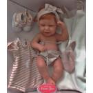 Antonio Juan Realistické bábätko Carla, 42cm s oblečením a vlasmi