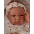 Antonio Juan Realistické bábätko Baby Toneta Saco, 33cm dievčatko v spacom vaku