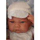 Antonio Juan Realistické bábätko Nico, 42cm na prešívanej deke chlapček