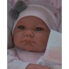Antonio Juan Látková bábika bábätko Nica Cojín Rosa na vankúši, 40cm
