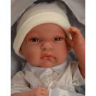 Antonio Juan Realistické bábätko Tonet Saco, 33cm chlapček v spacom vaku