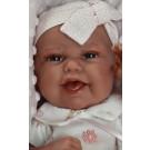 Antonio Juan Realistické bábätko Baby Clara Cojin, 33cm na vankúši