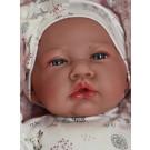 Antonio Juan Látková bábika bábätko Nina, 40cm v bielej kombinéze