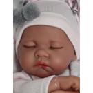 Antonio Juan Látková bábika bábätko Luna Carro, 40cm spiaca na vankúšiku