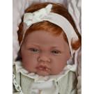 Antonio Juan Realistické bábätko dievčatko Nina s vláskami, 42cm na vankúši