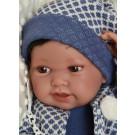 Antonio Juan Realistické bábätko Pipo s vláskami, 42cm chlapček