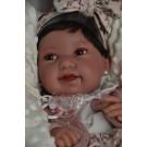 Antonio Juan Realistické bábätko Pipa s vláskami, 42cm