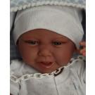 Antonio Juan Realistické bábätko Carlo s hryzátkom, 42cm chlapček