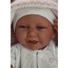 Antonio Juan Realistické bábätko Carla, 42cm s hryzátkom