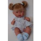 Antonio Juan Realistická bábika Tita Coletas, 26cm blond vlásky modré šatočky