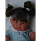 Antonio Juan Realistická bábika Tita Coletas, 26cm tmavé vlásky modré šatočky